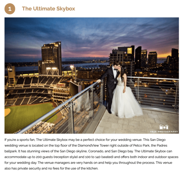 top rated san diego wedding venue