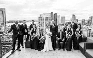 rooftop wedding picture